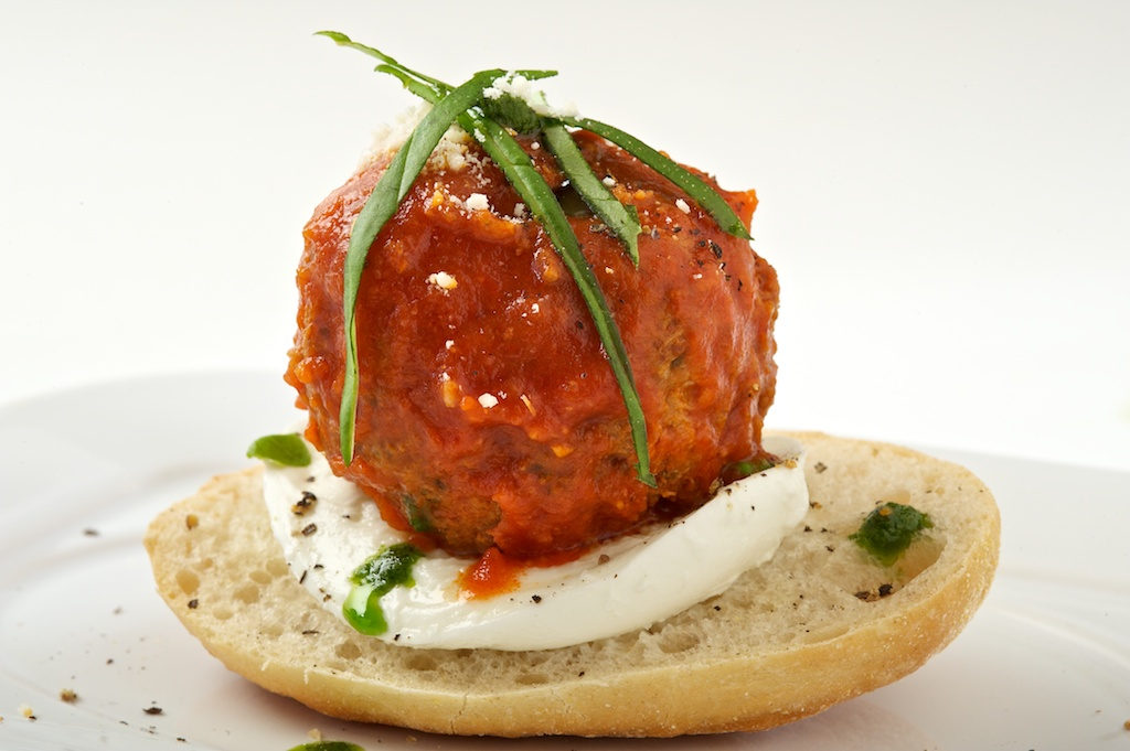 'TYPE' Meatball with Mozzarella and Bun